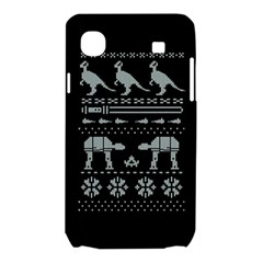 Holiday Party Attire Ugly Christmas Black Background Samsung Galaxy SL i9003 Hardshell Case