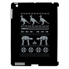 Holiday Party Attire Ugly Christmas Black Background Apple iPad 3/4 Hardshell Case (Compatible with Smart Cover)