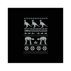 Holiday Party Attire Ugly Christmas Black Background Acrylic Tangram Puzzle (6  x 6 )