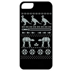 Holiday Party Attire Ugly Christmas Black Background Apple iPhone 5 Classic Hardshell Case
