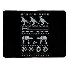 Holiday Party Attire Ugly Christmas Black Background Kindle Fire (1st Gen) Flip Case
