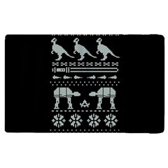 Holiday Party Attire Ugly Christmas Black Background Apple Ipad 3/4 Flip Case