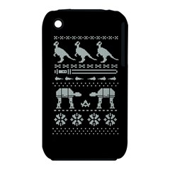 Holiday Party Attire Ugly Christmas Black Background Apple iPhone 3G/3GS Hardshell Case (PC+Silicone)