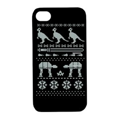 Holiday Party Attire Ugly Christmas Black Background Apple Iphone 4/4s Hardshell Case With Stand