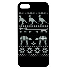Holiday Party Attire Ugly Christmas Black Background Apple iPhone 5 Hardshell Case with Stand