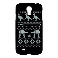 Holiday Party Attire Ugly Christmas Black Background Samsung Galaxy S4 I9500/i9505 Hardshell Case