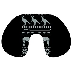 Holiday Party Attire Ugly Christmas Black Background Travel Neck Pillows
