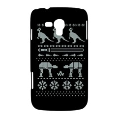 Holiday Party Attire Ugly Christmas Black Background Samsung Galaxy Duos I8262 Hardshell Case