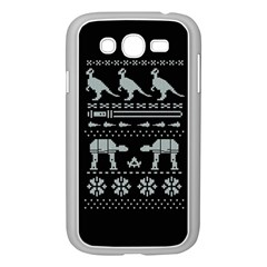 Holiday Party Attire Ugly Christmas Black Background Samsung Galaxy Grand Duos I9082 Case (white)