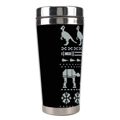 Holiday Party Attire Ugly Christmas Black Background Stainless Steel Travel Tumblers