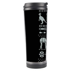 Holiday Party Attire Ugly Christmas Black Background Travel Tumbler