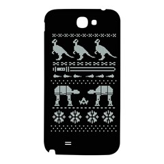 Holiday Party Attire Ugly Christmas Black Background Samsung Note 2 N7100 Hardshell Back Case