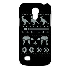 Holiday Party Attire Ugly Christmas Black Background Galaxy S4 Mini