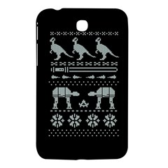 Holiday Party Attire Ugly Christmas Black Background Samsung Galaxy Tab 3 (7 ) P3200 Hardshell Case