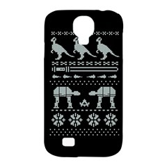 Holiday Party Attire Ugly Christmas Black Background Samsung Galaxy S4 Classic Hardshell Case (pc+silicone)