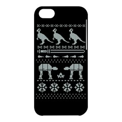Holiday Party Attire Ugly Christmas Black Background Apple iPhone 5C Hardshell Case