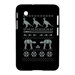 Holiday Party Attire Ugly Christmas Black Background Samsung Galaxy Tab 2 (7 ) P3100 Hardshell Case