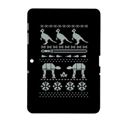 Holiday Party Attire Ugly Christmas Black Background Samsung Galaxy Tab 2 (10.1 ) P5100 Hardshell Case