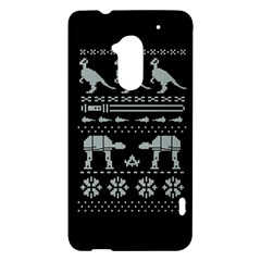 Holiday Party Attire Ugly Christmas Black Background HTC One Max (T6) Hardshell Case