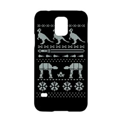 Holiday Party Attire Ugly Christmas Black Background Samsung Galaxy S5 Hardshell Case