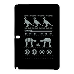 Holiday Party Attire Ugly Christmas Black Background Samsung Galaxy Tab Pro 12.2 Hardshell Case