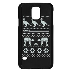Holiday Party Attire Ugly Christmas Black Background Samsung Galaxy S5 Case (black)
