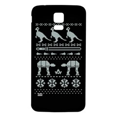Holiday Party Attire Ugly Christmas Black Background Samsung Galaxy S5 Back Case (White)