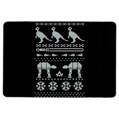 Holiday Party Attire Ugly Christmas Black Background iPad Air 2 Flip