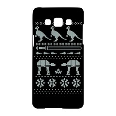 Holiday Party Attire Ugly Christmas Black Background Samsung Galaxy A5 Hardshell Case