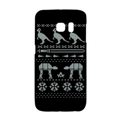 Holiday Party Attire Ugly Christmas Black Background Galaxy S6 Edge