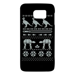 Holiday Party Attire Ugly Christmas Black Background Galaxy S6