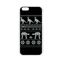 Holiday Party Attire Ugly Christmas Black Background Apple Seamless iPhone 6/6S Case (Transparent)