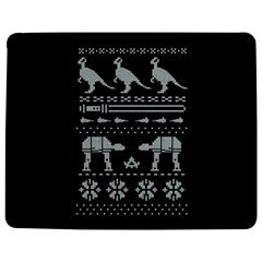 Holiday Party Attire Ugly Christmas Black Background Jigsaw Puzzle Photo Stand (rectangular)