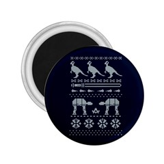 Holiday Party Attire Ugly Christmas Blue Background 2.25  Magnets