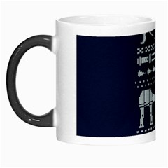 Holiday Party Attire Ugly Christmas Blue Background Morph Mugs