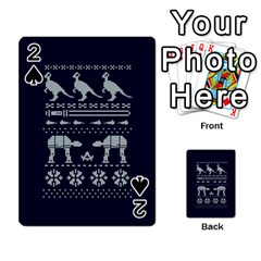 Holiday Party Attire Ugly Christmas Blue Background Playing Cards 54 Designs