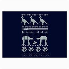 Holiday Party Attire Ugly Christmas Blue Background Collage Prints