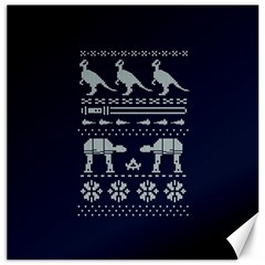 Holiday Party Attire Ugly Christmas Blue Background Canvas 16  x 16