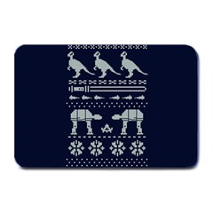 Holiday Party Attire Ugly Christmas Blue Background Plate Mats