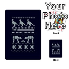 Holiday Party Attire Ugly Christmas Blue Background Multi Purpose Cards (rectangle)