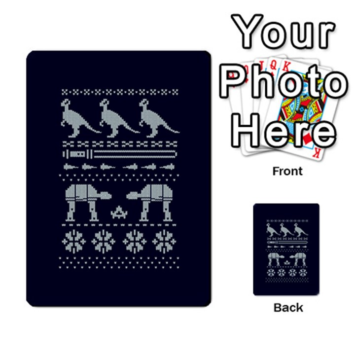 Holiday Party Attire Ugly Christmas Blue Background Multi-purpose Cards (Rectangle)