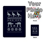 Holiday Party Attire Ugly Christmas Blue Background Multi-purpose Cards (Rectangle)  Back 51