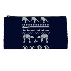 Holiday Party Attire Ugly Christmas Blue Background Pencil Cases