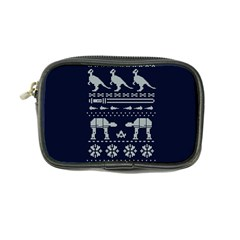 Holiday Party Attire Ugly Christmas Blue Background Coin Purse