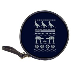 Holiday Party Attire Ugly Christmas Blue Background Classic 20 Cd Wallets