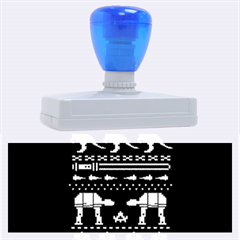 Holiday Party Attire Ugly Christmas Blue Background Rubber Address Stamps (xl)