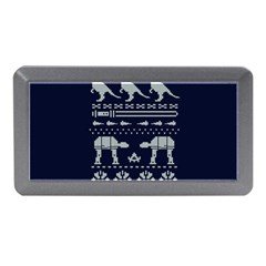 Holiday Party Attire Ugly Christmas Blue Background Memory Card Reader (Mini)