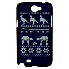 Holiday Party Attire Ugly Christmas Blue Background Samsung Galaxy Note 2 Hardshell Case