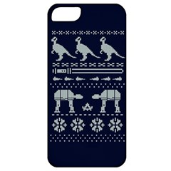 Holiday Party Attire Ugly Christmas Blue Background Apple iPhone 5 Classic Hardshell Case