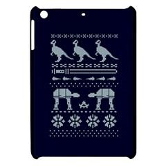 Holiday Party Attire Ugly Christmas Blue Background Apple iPad Mini Hardshell Case
